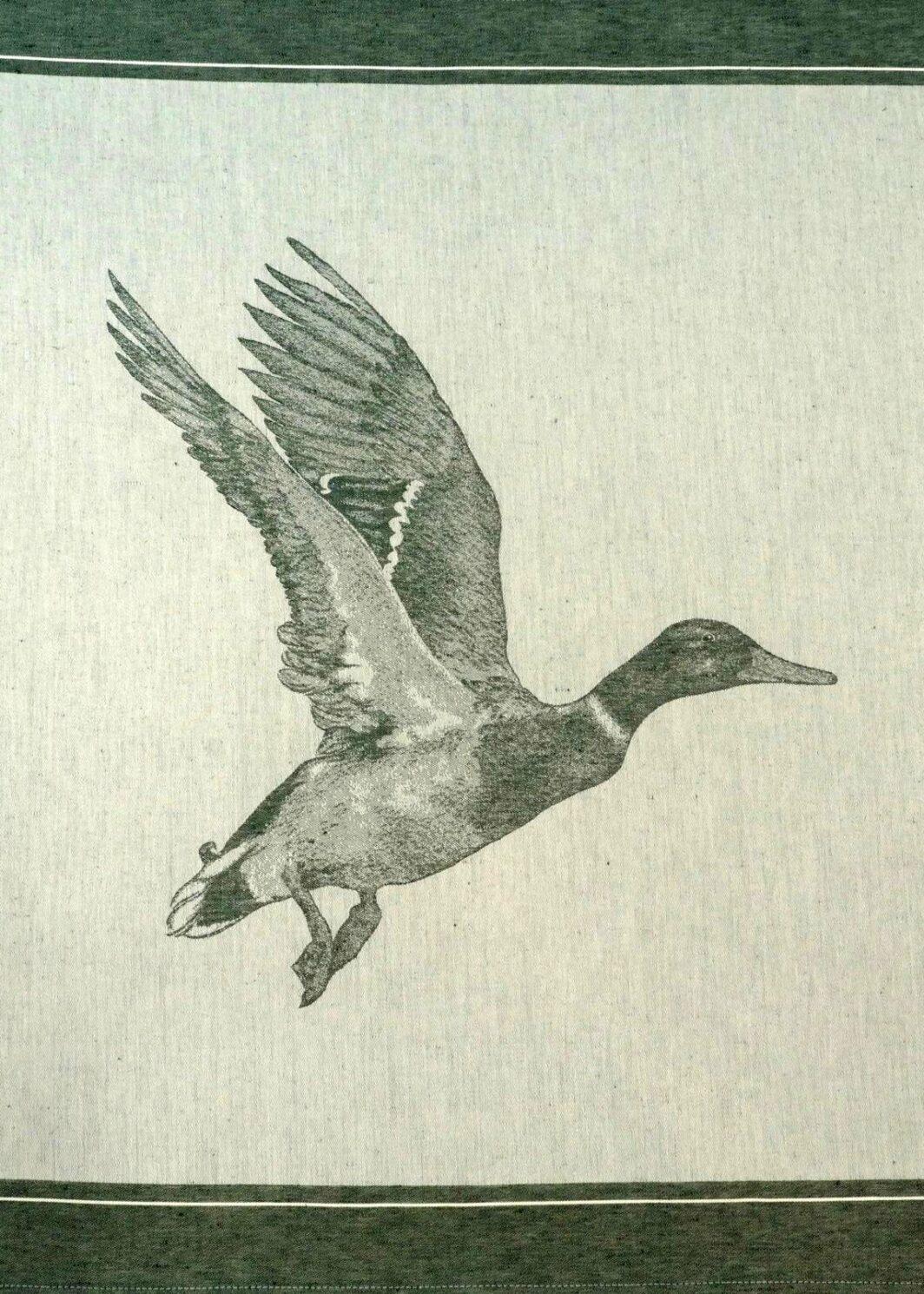 Geschirrtuch Ente dunkelgrün