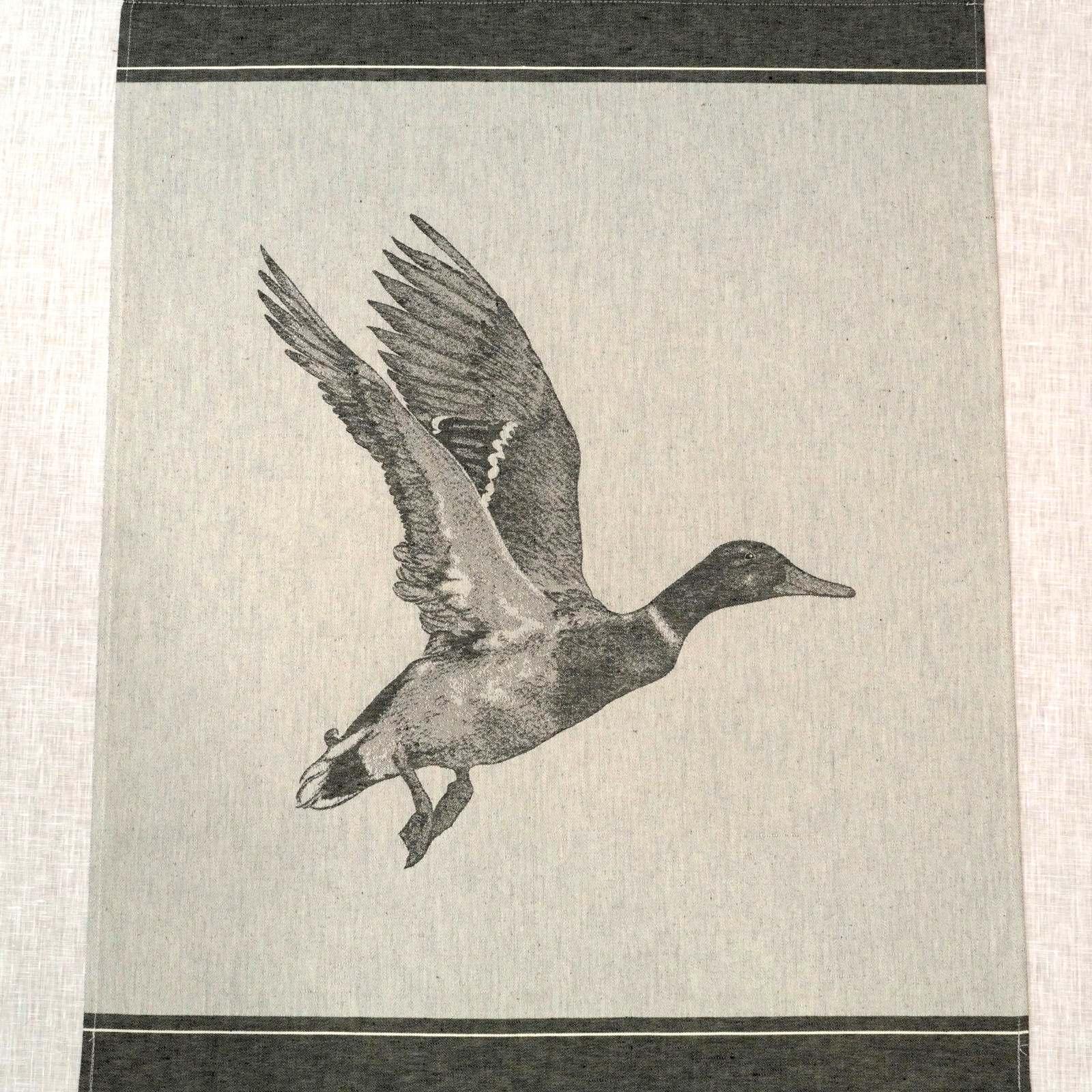 Geschirrtuch Ente schwarz