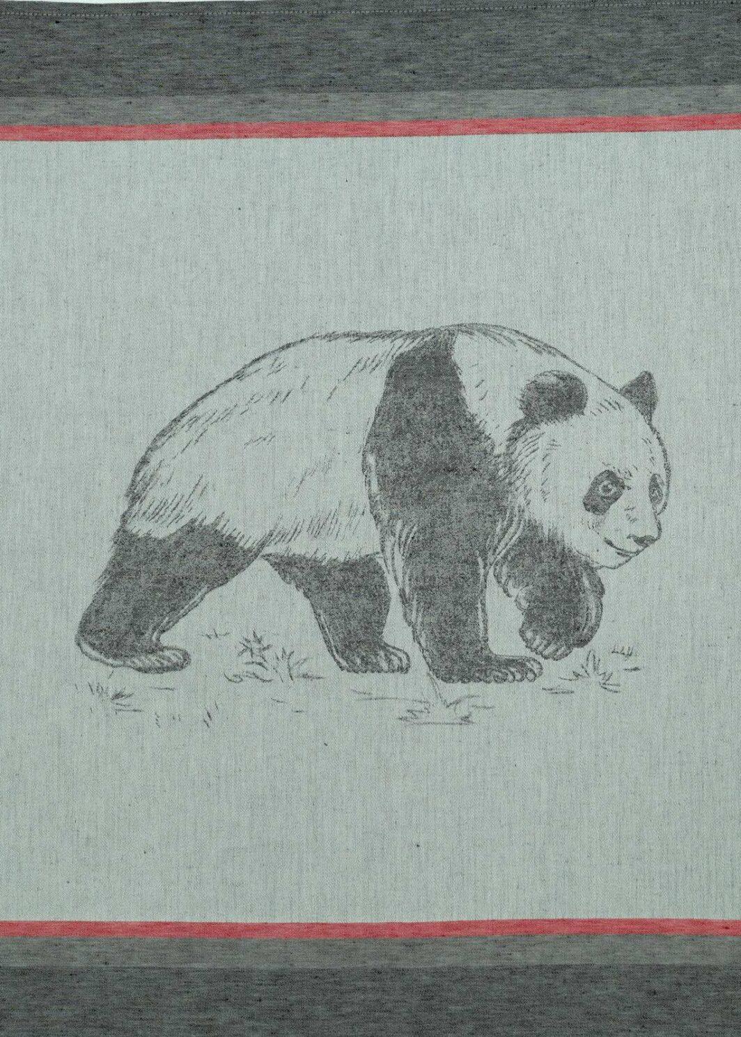 Geschirrtuch Panda schwarz