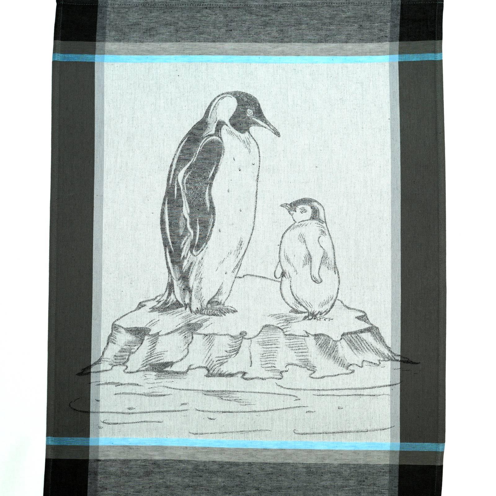 Geschirrtuch Pinguin schiefer grau