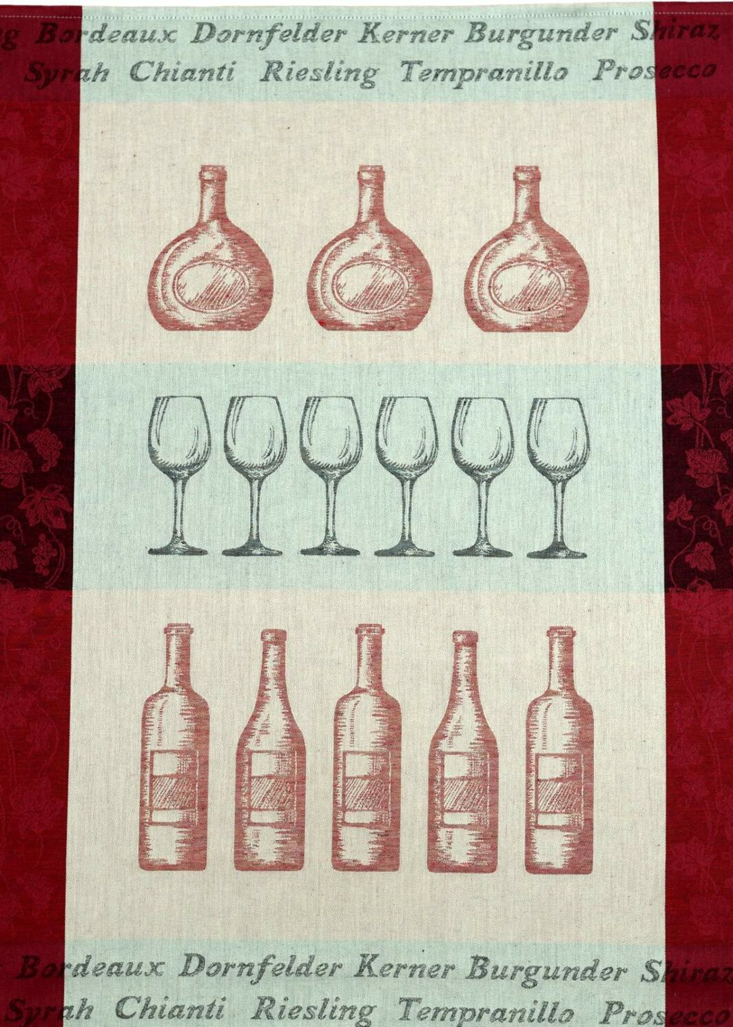 Geschirrtuch Wein rot