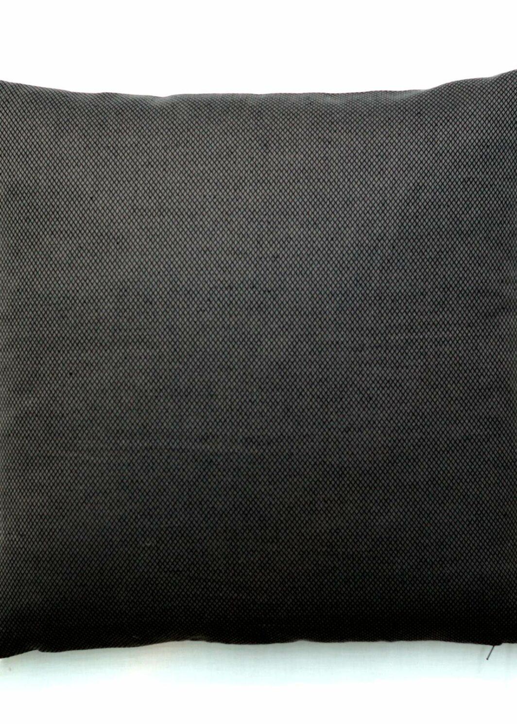 Kissen Quintus Halbleinen schwarz