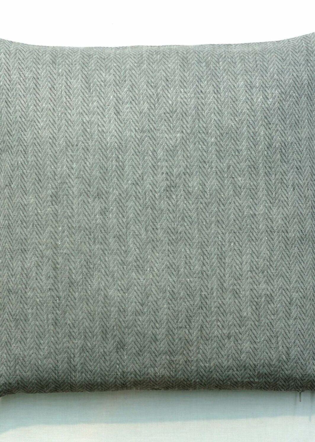 Kissen Torino Reinleinen schiefer